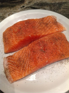 Salmon spiced