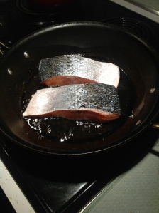 Salmon in the pan