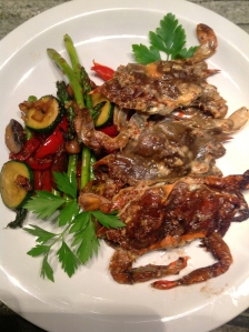 Grilled Soft Shells