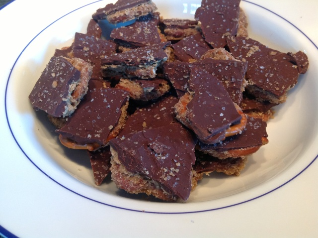 OMG! Salted Caramel Pretzel Bark!