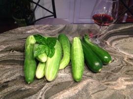 Cuc, Zucchini and Basil